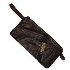 Zilli Brown Lambskin Leather Collar Bag Pouch