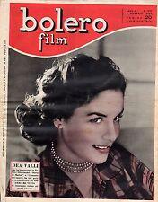 rivista fotoromanzo - BOLERO - Anno 1951 Numero 190 DEA VALLI