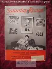 Saturday Review Magazine May 17 1958 SIMONE de BEAUVOIR WILLIAM D. PATTERSON