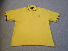Manchester United Yellow Twin Tipped Short Sleeved Polo Top Adult Medium (K)