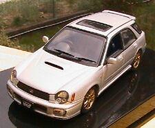 SUBARU NEW AGE IMPREZA WRX STI WAGON AUTOART 58632 1/43 SILVER 2001 SILBER SW