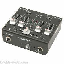 Citronic Mini Mix1 USB Mixer 2 Channel Laptop DJ Disco Karaoke Recording
