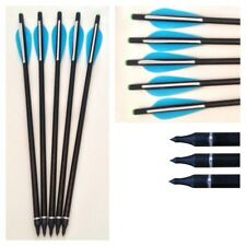 "10 x 17"" BLUE Fibreglass Field Tip on/off Archery arrow Crossbow bolts Broadhead"