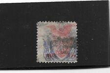 US sc#121 used 30c Shield & Eagle w/Flags with grill 1869 bank note f/vf