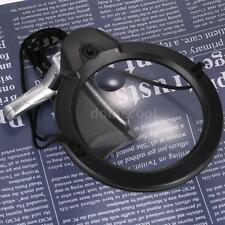 2X 6X Hands Free Magnifying Glass LED Light Magnifier for Reading Crafts I6U1