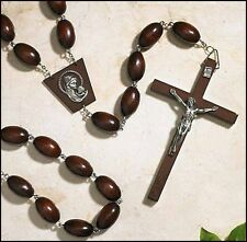 Madonna and Child Wooden Wall Rosary (TS752)  NEW 59 Inches Inches Long