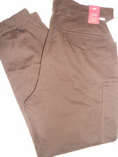NWT LEVI'S Mens 36 x 30 SLIM Fit Taper BANDED CARGO 6 Pocket Dark Brown Pants
