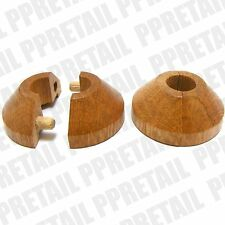 Solid Oak RADIATOR PIPE TO WOODEN FLOOR COVER Rose Collar Laminate Ring Surround