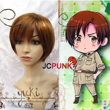 Axis Powers Hetalia APH South Italy Lovino Vargas wig Free Shipping