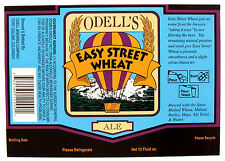 Odell Brewing EASY STREET WHEAT glossy beer label CO 12oz  SINGLE BALLOON
