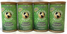4 PACK Great Lakes Beef Gelatin Collagen Hydrolysate 16 oz Green Pure Protein