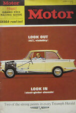 Motor magazine 5/6/1963 featuring Skoda Octavia Super road test