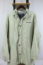 Vtg Polo Sport Sz L Hooded Cotton Lined 3/4 Long Zip Snap Jacket 90s Sportsman