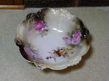 "Beautiful 10  3/4""  RS Germany  Porcelain Serving Bowl - Floral  / Flower Design"