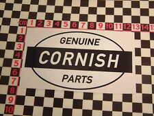 Ed Roth Style Cornish Parts Sticker - VW Camper Beetle Surfing Newquay Cornwall