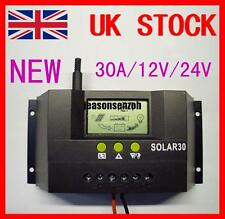 30A 12V/24V Solar Controller Regulator Charge Battery  Protection CE JS