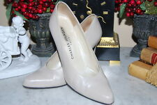 CHARLES JOURDAN PARIS TAN BEIGE LEATHER HIGH HEEL CLASSIC WOMEN'S PUMP SIZE 8 M
