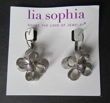Lia Sophia Jewelry Flower Silver Plated Earrings