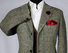 Mens Harris Tweed Blazer Jacket Wedding Country 42S SUPERB TWEED 454