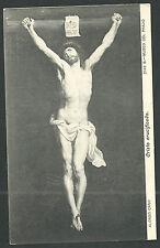 Postal antigua de Jesus en la Cruz andachtsbild santino holy card santini