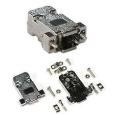 Metalized D-Sub DB9pin/DE9 Shielded Plastic Hood/Cover/Housing/Shell+screws$SHdi
