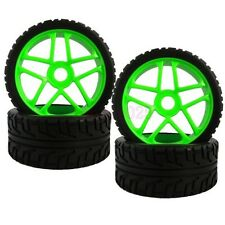 4PCS RC 1:8 On-Road Car Buggy Rubber Tyre Tires Wheel Rim 17m Green 85G-803
