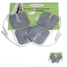 40 Electrode Pads Tens Units Nerve Stimulator Muscle Massager  Gel Cloth