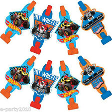 HOT WHEELS Wild Racer BLOWOUTS (8) ~ Birthday Party Supplies Favors Noisemakers