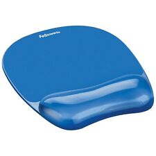 FELLOWES 91141 Blue Crystal Mouse Pad/Wrist Rest,comfortable easy to clean