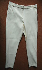 NEW Gok Sz 18S Cream Textured Tapered Suit Trouser Zip Fly & Ankle Pockets