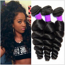 "3 Bundles 20"" 100% Loose Wave Hair Peruvian Human Hair Extensions Weave Weft 50g"