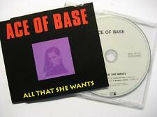 "ACE OF BASE ""ALL THAT SHE WANTS"" - MAXI CD"