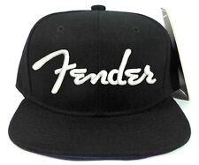 FENDER Black Snapback Cap Hat Adjustable one size