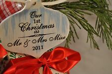 Newlywed Ornament {Our First Christmas As Mr And Mrs} {Personalized & Handmade}