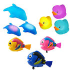 Baby Bath Toys 3xcolour changing Ducks+3x Dolphin with LED Lights,3xWind Up Fish