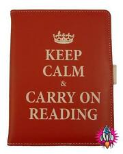 NEW KINDLE KOBO TOUCH KEEP CALM AND CARRY ON READING E READER TABLET COVER CASE