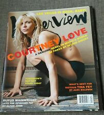 MAGAZINE ANDY WARHOL'S INTERVIEW - COURNEY LOVE - RUFUS WAINWRIGHT - TINA FEY