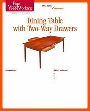 Fine Woodworking's Dining Table with Two-Way Drawers Plan by Fine Woodworking...