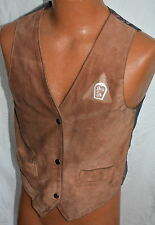 Leather Mens Western Suede Snap Front Vest small LITTLE JOE ish