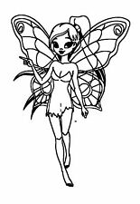 "Clear Stamp (2.5""x3"") acrylic unmounted Fairy Fantasy Magic FLONZ Smiling"