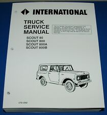 International IH Scout 1961-71 80 800 800A 800B Service Shop Manual CTS-2302