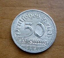 1921G German 50 Pfennig Coin