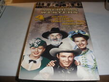 THE GREAT AMERICAN WESTERN 4 MOVIES ON VHS