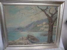schönes Gemälde einer mediterranen Küste Italien signiert