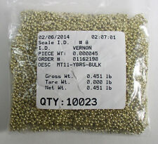 MT11-YBRS 11/0 Yellow Brass Metal Seed Beads Quantity 10,023 Free Ship