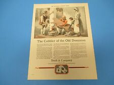 1924 The Cobbler of the Old Dominion Swift & Company founded 1868,Print Ad PA007