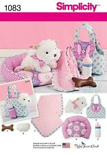 SIMPLICITY SEWING PATTERN 8 INCH STUFFED PUPPY CARRIER BED BLANKET BOTTLE 1083