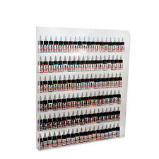 24 x 20.5 Clear Acrylic Tattoo Ink 6 Tier Wall Rack Shop Organizer Display