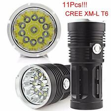 28000LM SKYRAY 11 x CREE XM-L T6 LED Jagd-Taschenlampe 4 x 18650 Lampen Fackel