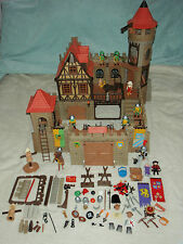 PLAYMOBIL Castello Medievale 3666 PLUS extra come illustrato-lotto per OdL / Bundle di grandi dimensioni
